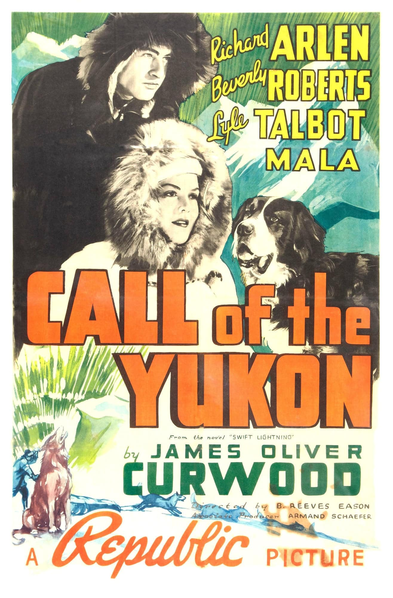 "Poster for the movie ""Call of The Yukon"""