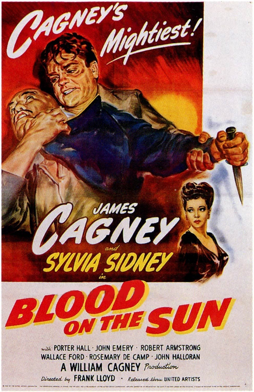 "Poster for the movie ""Blood on the Sun"""