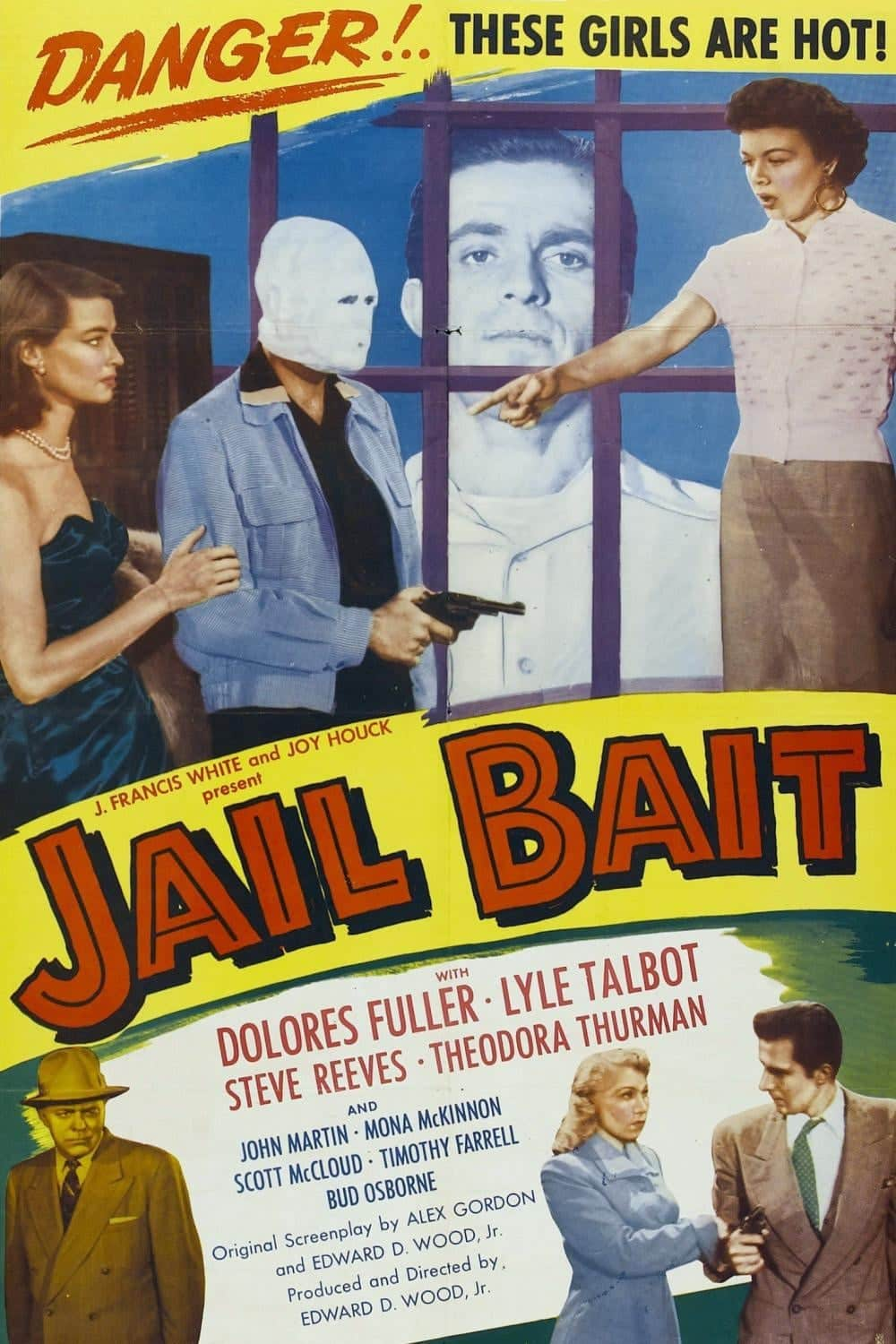 "Poster for the movie ""Jail Bait"""