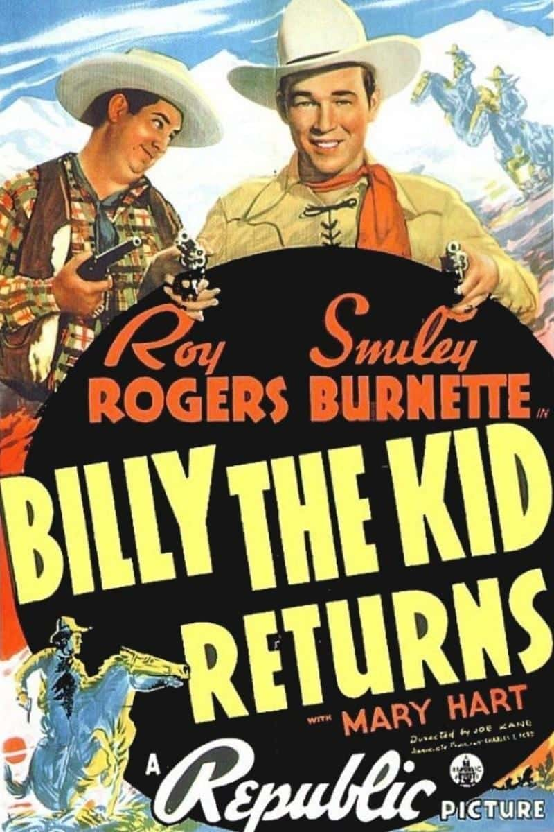 "Poster for the movie ""Billy The Kid Returns"""