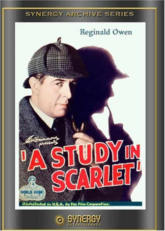"Poster for the movie ""A Study in Scarlet"""