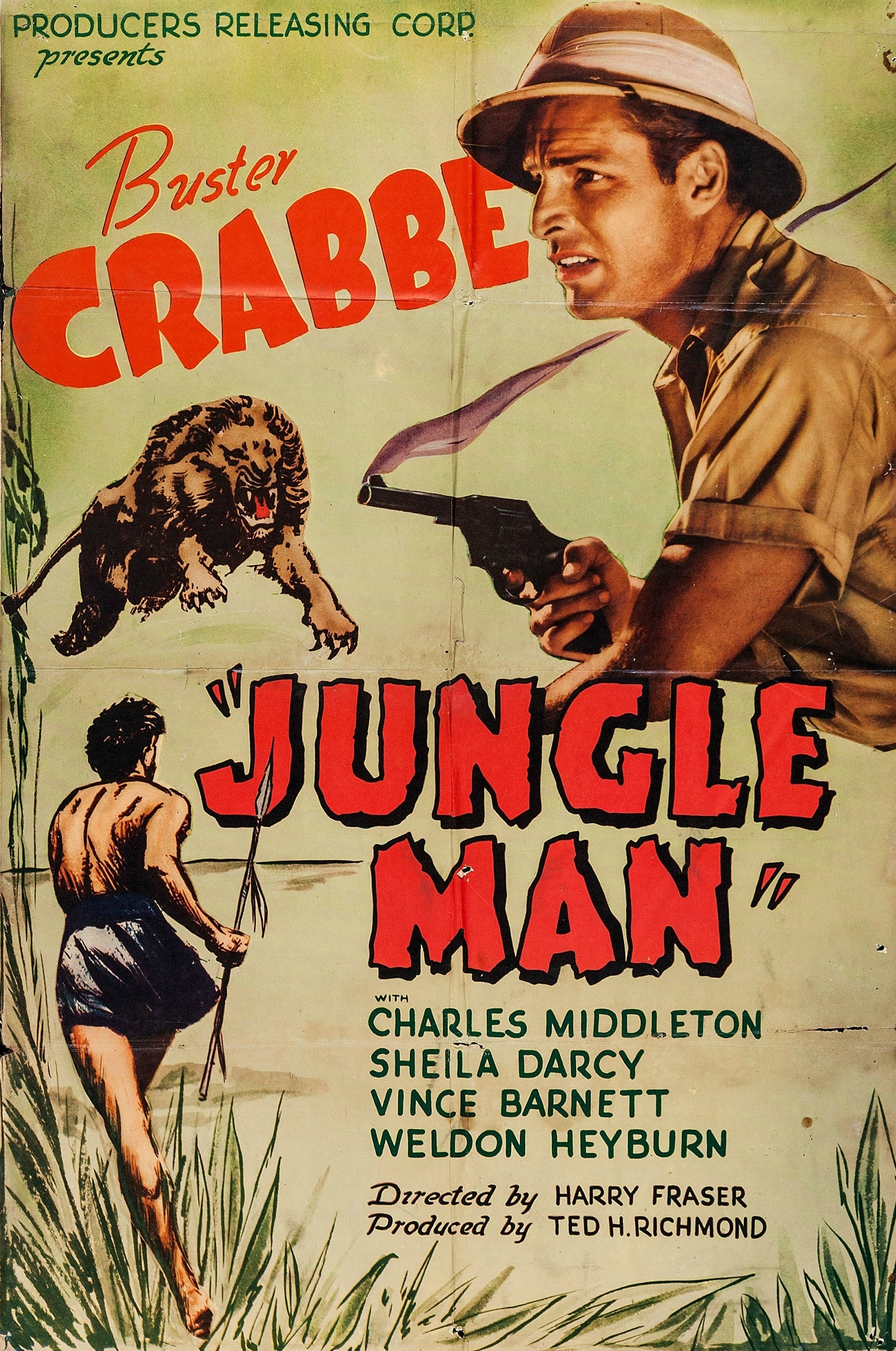 "Poster for the movie ""Jungle Man"""