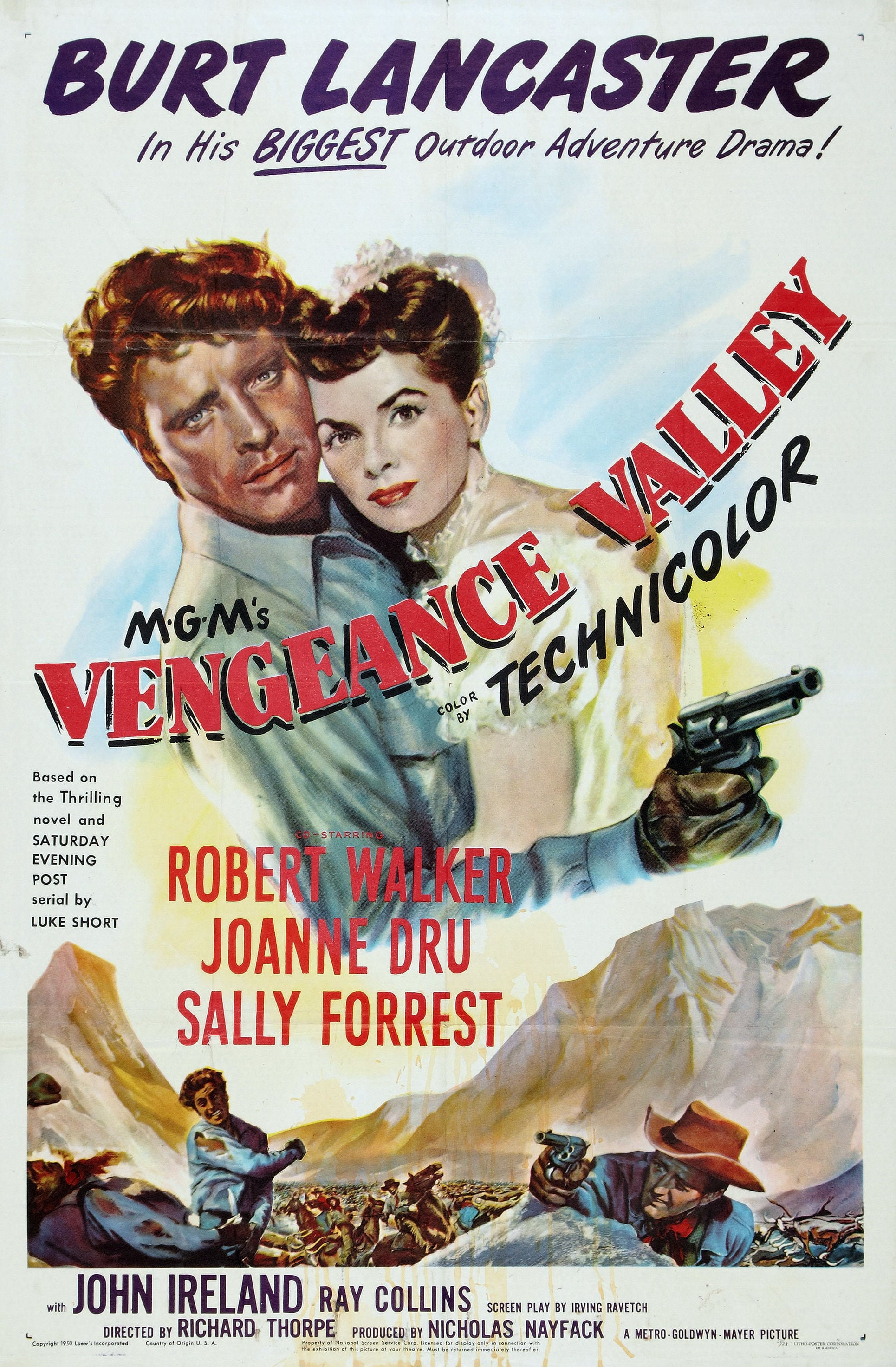 "Poster for the movie ""Vengeance Valley"""