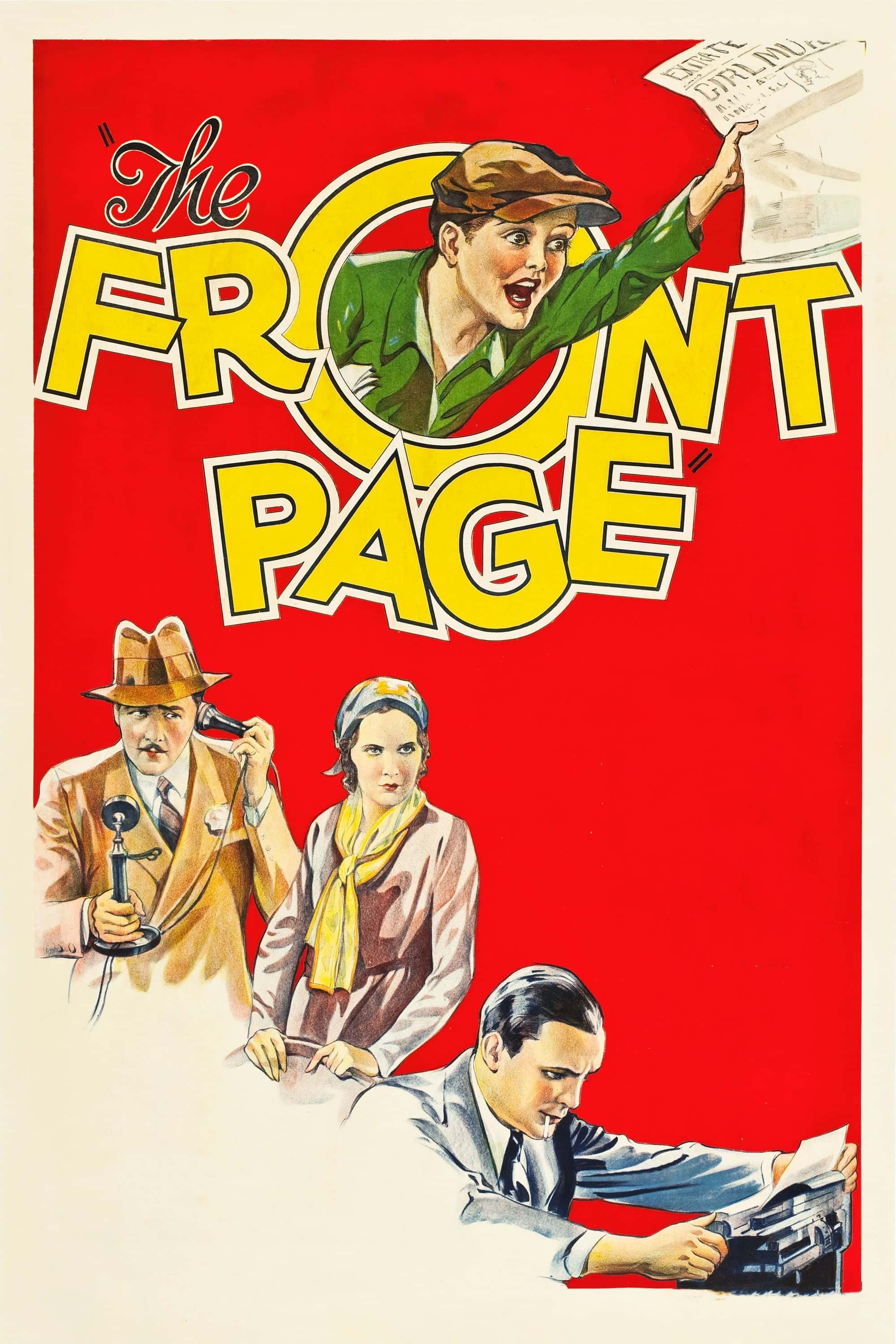 "Poster for the movie ""The Front Page"""