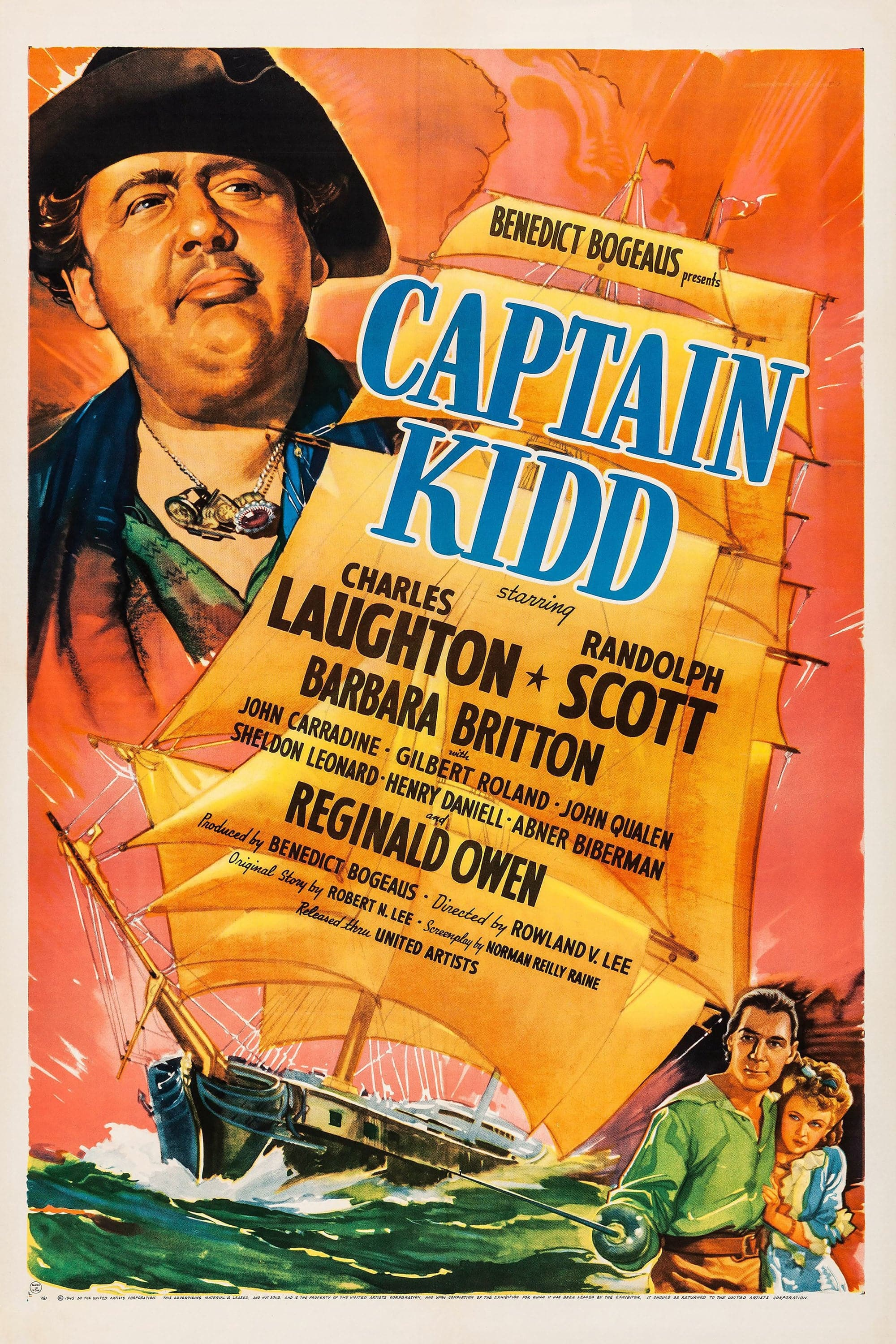 "Poster for the movie ""Captain Kidd"""