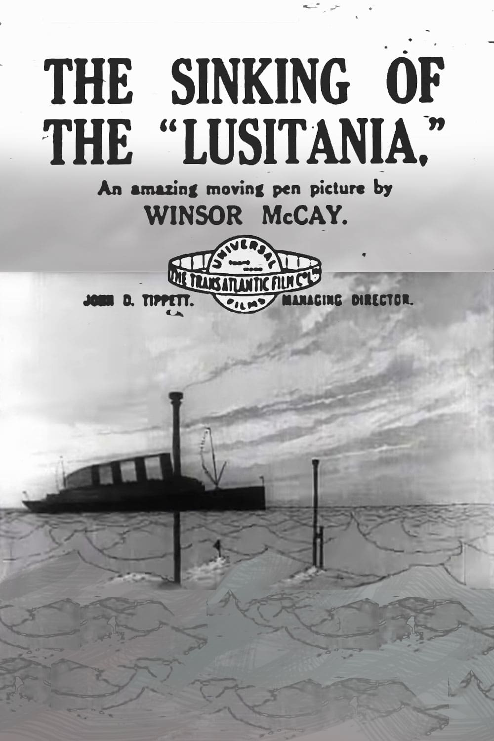 "Poster for the movie ""The Sinking of the Lusitania"""
