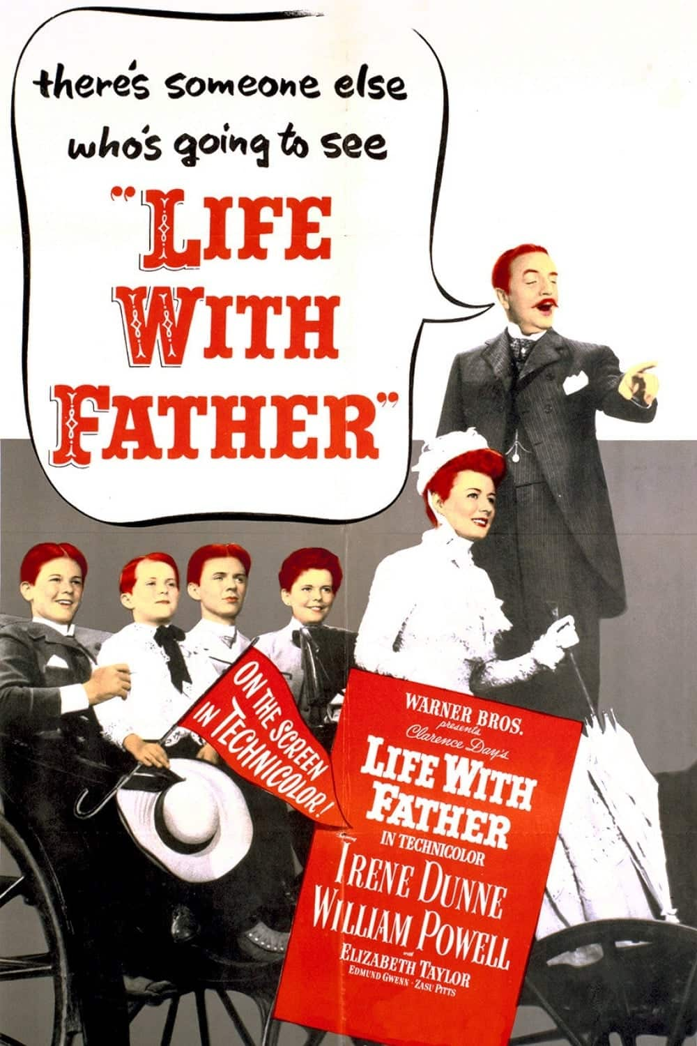 "Poster for the movie ""Life with Father"""