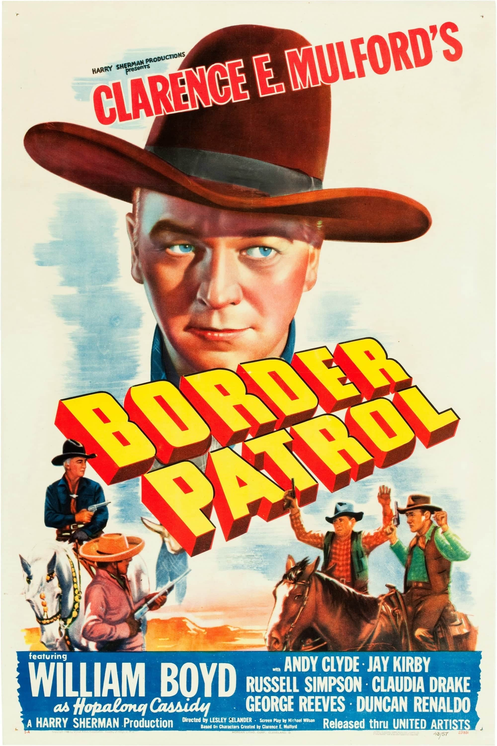 "Poster for the movie ""Border Patrol"""