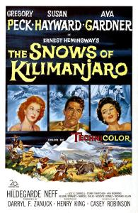 "Poster for the movie ""The Snows of Kilimanjaro"""