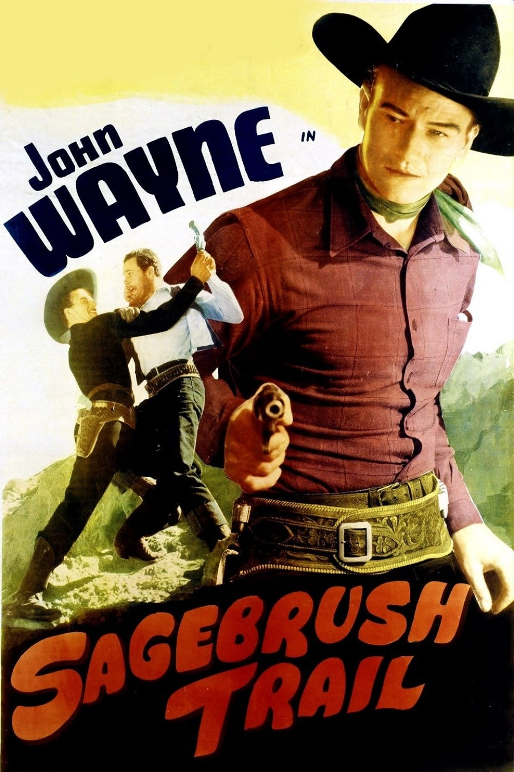 "Poster for the movie ""Sagebrush Trail"""