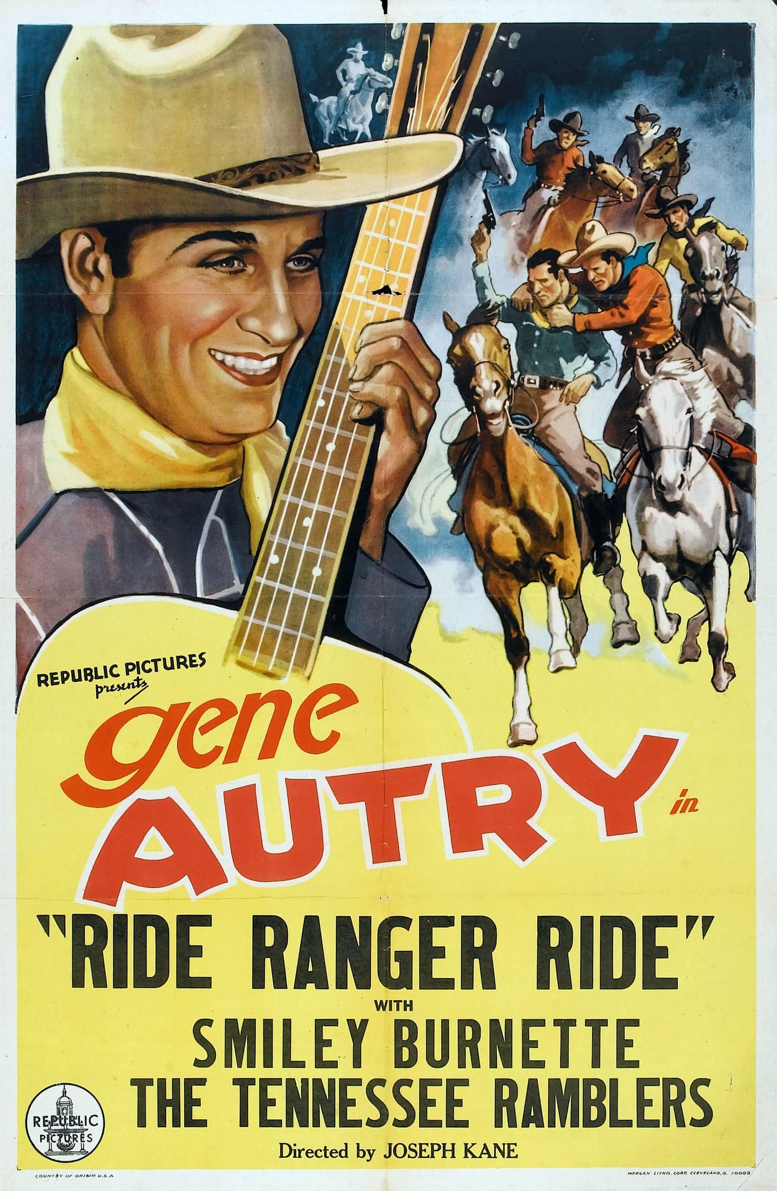"Poster for the movie ""Ride Ranger Ride"""
