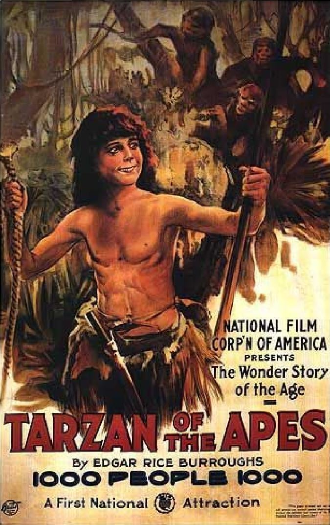 "Poster for the movie ""Tarzan of the Apes"""