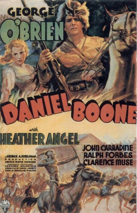 "Poster for the movie ""Daniel Boone"""