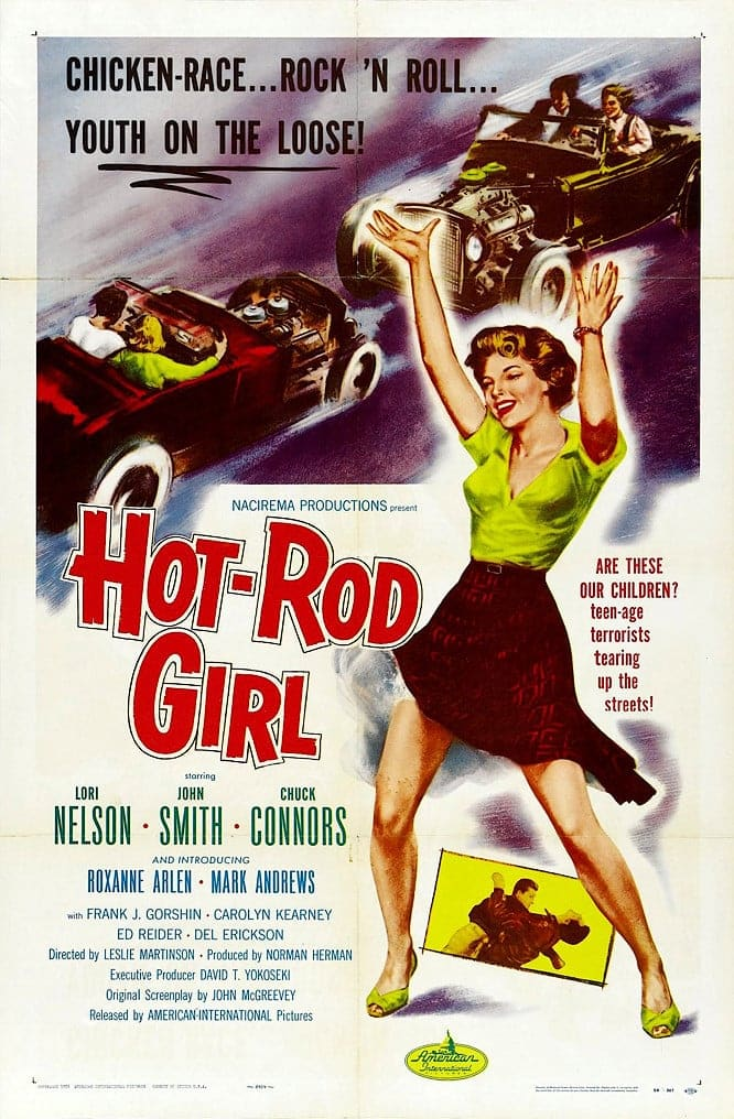"Poster for the movie ""Hot Rod Girl"""