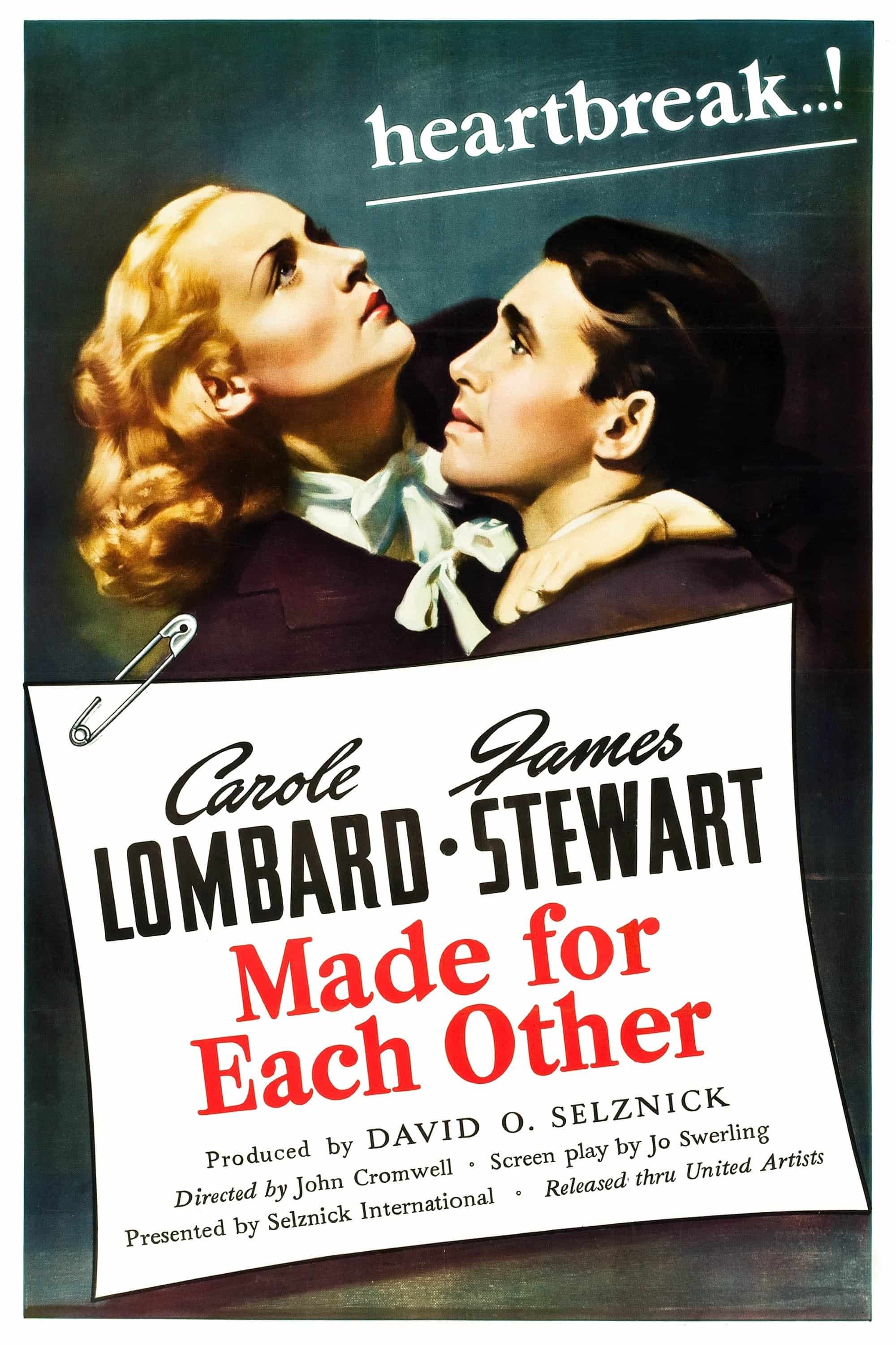 "Poster for the movie ""Made for Each Other"""